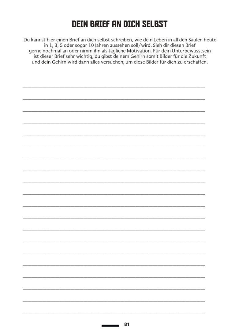 Dein Brief an dich selbst
