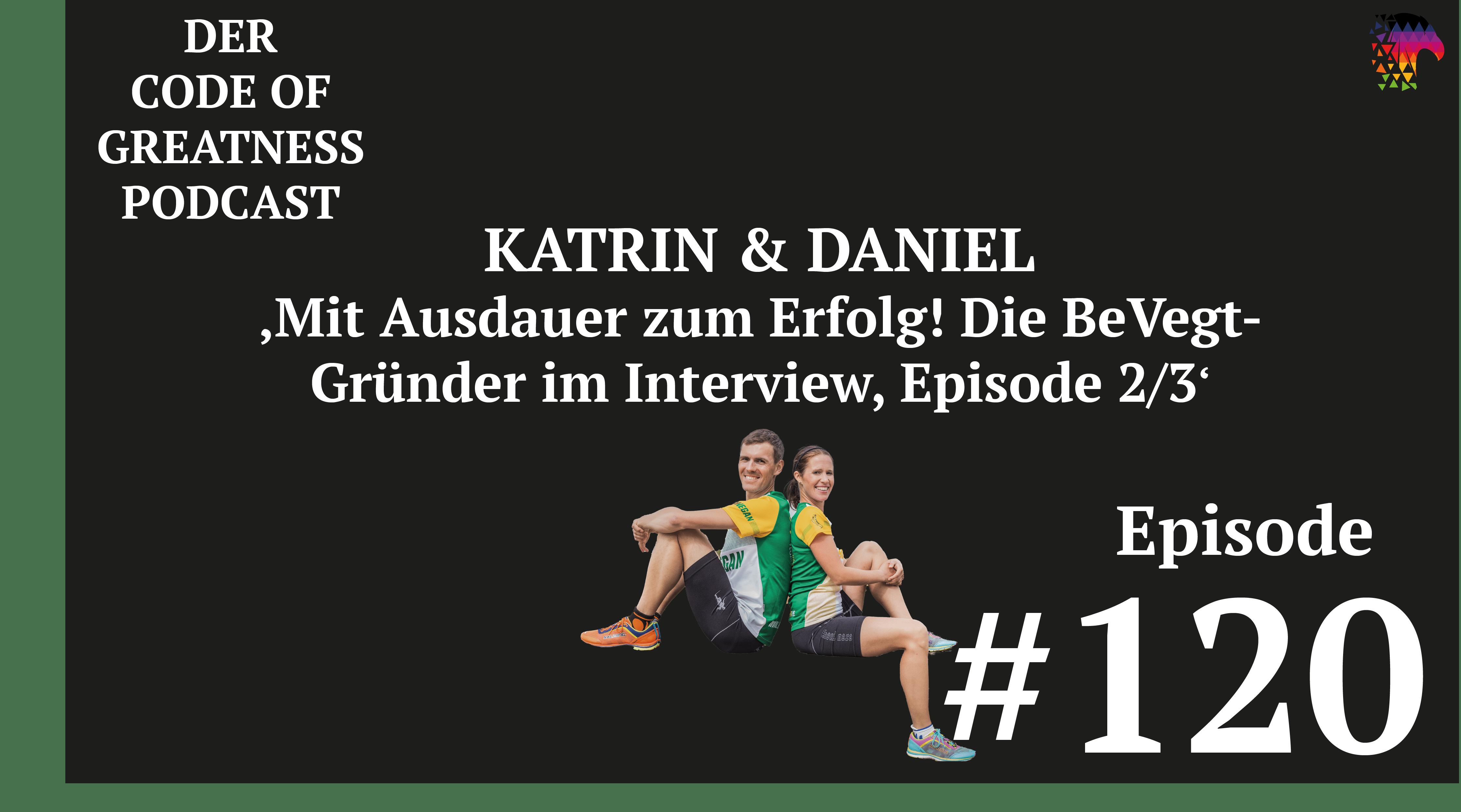 Read more about the article #120 – Mit Ausdauer zum Erfolg! Katrin und Daniel von BeVegt im Interview, Episode 2/3